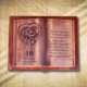 10. házassági évfordulóra egyedi fakönyv