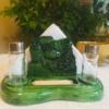 Só és borstrató zöld karácsonyi színben