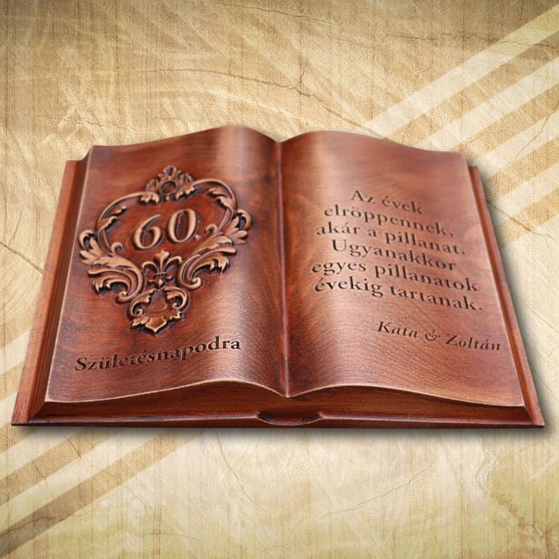 60. születésnapra egyedi fakönyvek ünnepnapokra