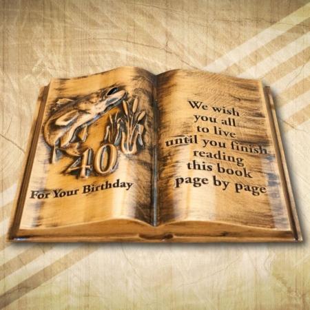 Horgászoknak ajándék fakönyv 40. születésnapra