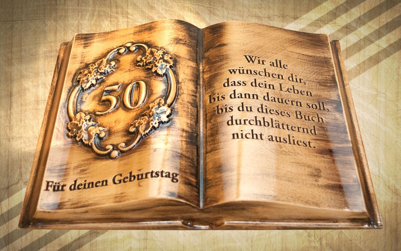 születésnapi ötletek 50 születésnapra 50. születésnapra ajándék fakönyv díszdobozban német   Mívesfa születésnapi ötletek 50 születésnapra