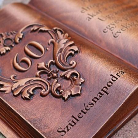 60. születésnapi ajándék fakönyv