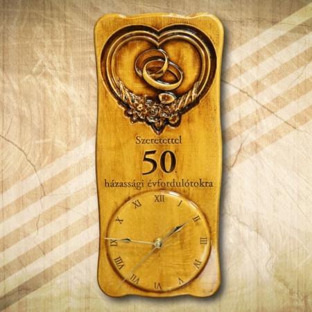 50. házassági évfordulóra falióra