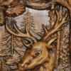 míves szarvasmintás falióra vadászoknak