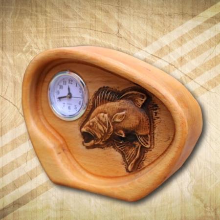 süllőmintás asztali analóg óra