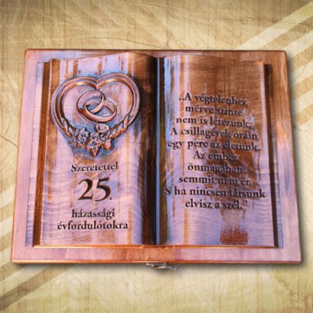 25. házassági évfordulóra fakönyv