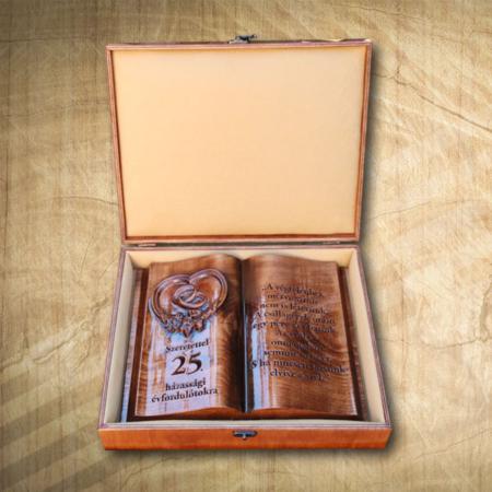 25. házassági fakönyv díszdobozban