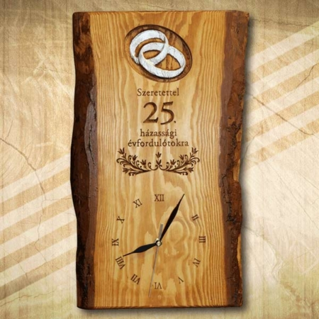 25. házassági évfordulóra ajándék falióra