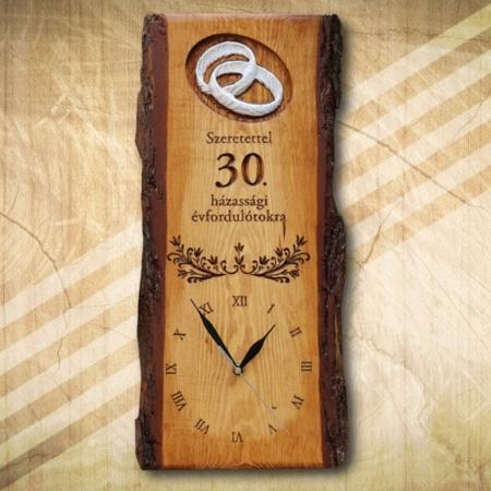 30. házassági évfordulóra ajándék falióra