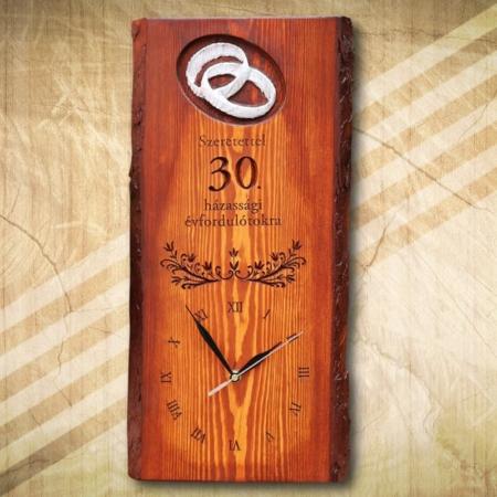30 házassági évfordulóra ajándék falióra