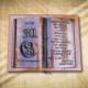 Ajándék fakönyv 30. születésnapra jin-jang mintával