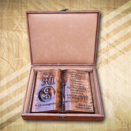 Ajándék fakönyv 30. születésnapra