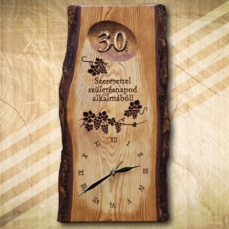 30. születésnapi ajándék egyedi falióra