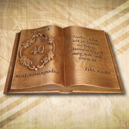 40 születésnapi fakönyv barátnak