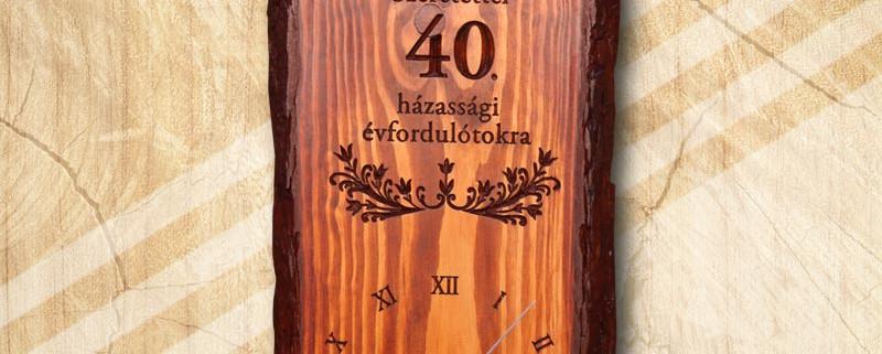40. házassági évfordulós falióra