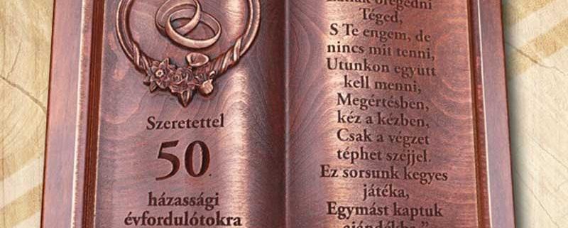 50 házassági évfordulóra fakönyv