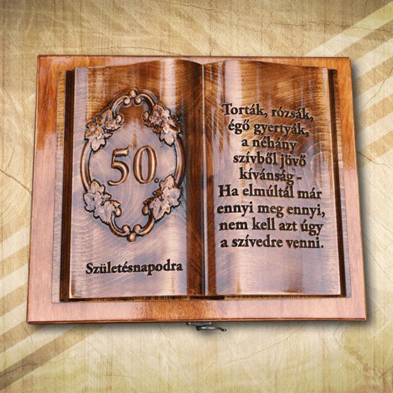 50. születésnapra fakönyv