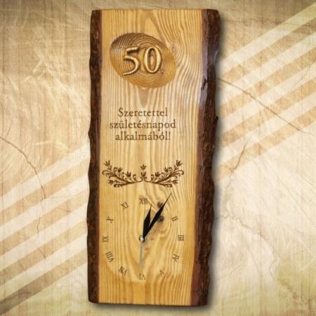 50 születésnapra falióra ajándékba