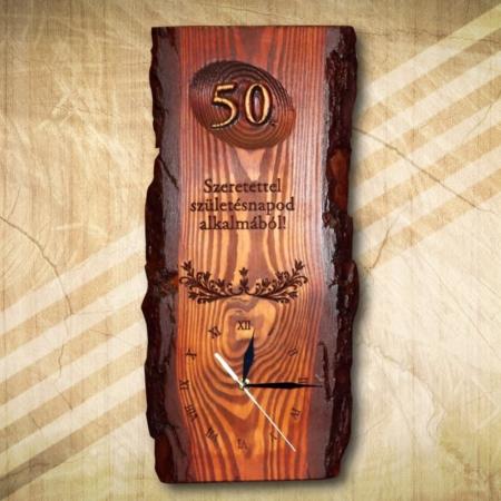 50 születésnapra falióra