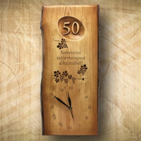 50 éves borásznak ajándék falióra