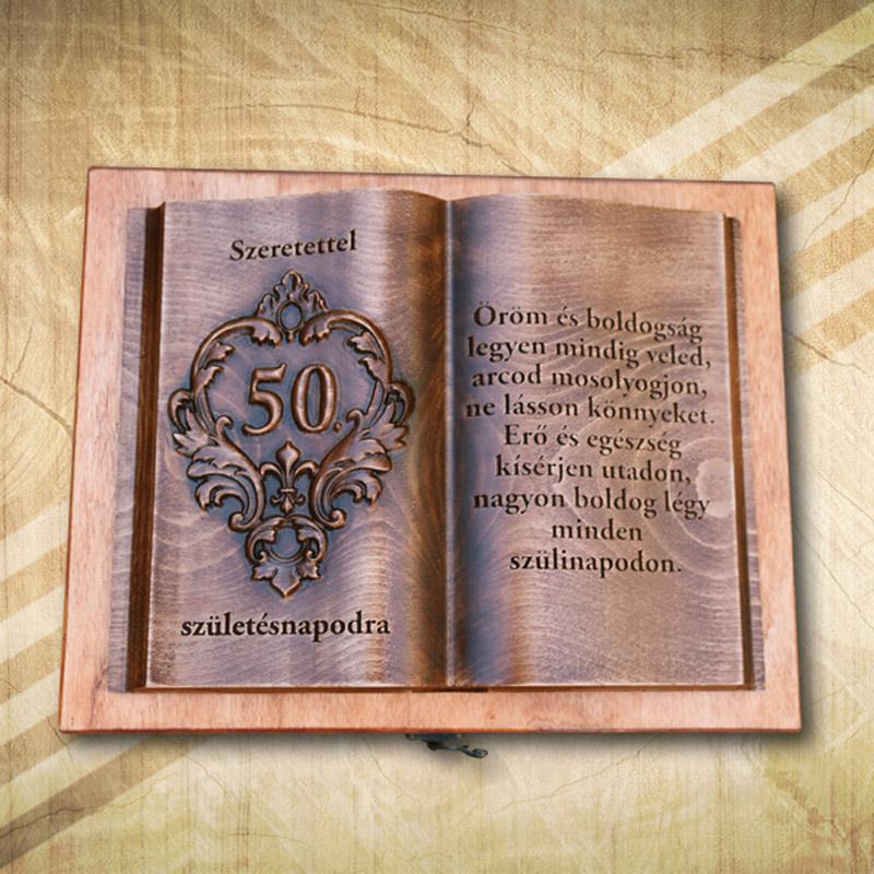 50. születésnapi fakönyv biankó
