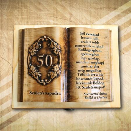 50 éves születésnaposnak fakönyv