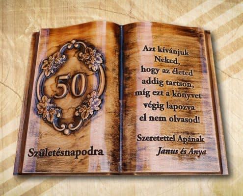 50. születésnapi ajándékkönyv