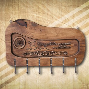 50. szülinapi fa fali kulcstartó
