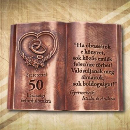 50. házassági évfordulóra