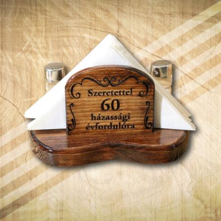 60. házassági évfordulóra szalvétatartó