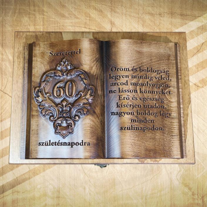 60. születésnapi fakönyv biankó