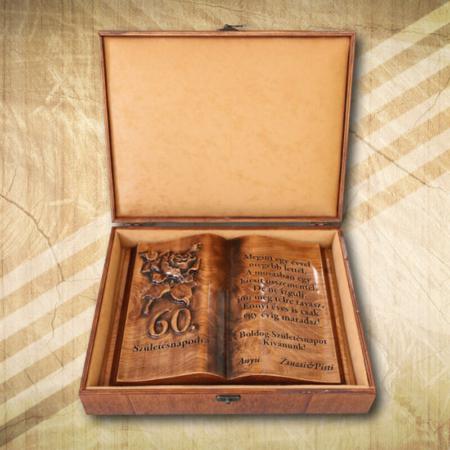 60. születésnapra ajándék fakönyv hölgyeknek-Mívesfa