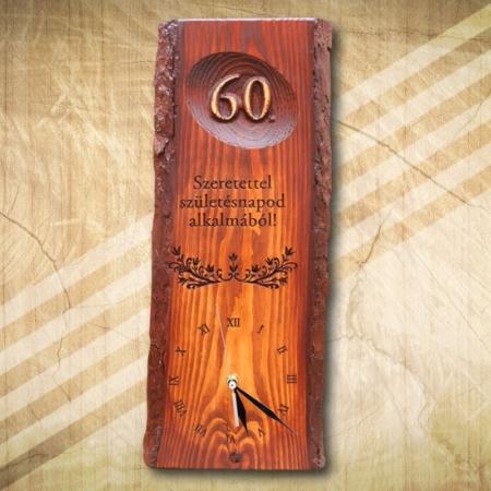 60 születésnapra egyedi falióra