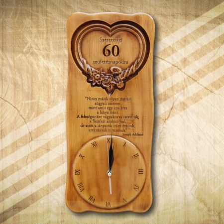 60. születésnapi különleges falióra