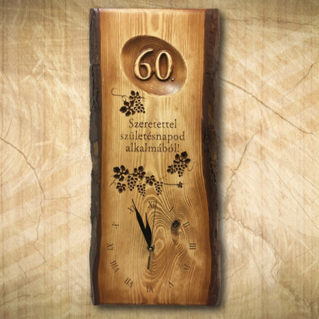 60 éves borásznak ajándék falióra