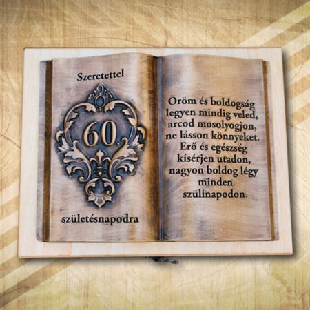 Ajándék fakönyv 60. születésnapra biankó Öröm2