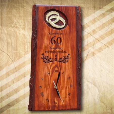60. házassági falióra ajándék