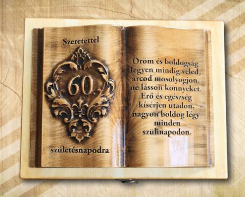 Ajándék fakönyv 60. születésnapra biankó fényes