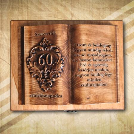 Ajándék fakönyv 60. születésnapra fényes Öröm2