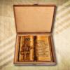 Magyaros ajándék 65. születésnapra díszdobozban-Mívesfa