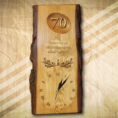 70 születésnapra ajándék falióra