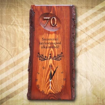70 születésnapi falióra
