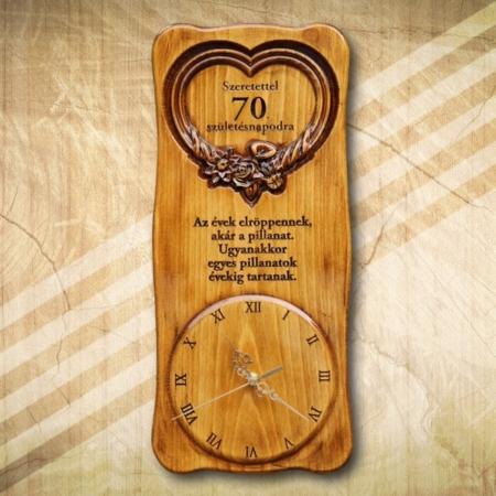 70. születésnapi különleges falióra