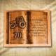 70. születésnapra egyedi traktoros fakönyv-Mívesfa