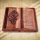 70. születésnapra ajándék fakönyv idézettel