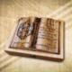 70. születésnapra ajándék fakönyv Testvérnek