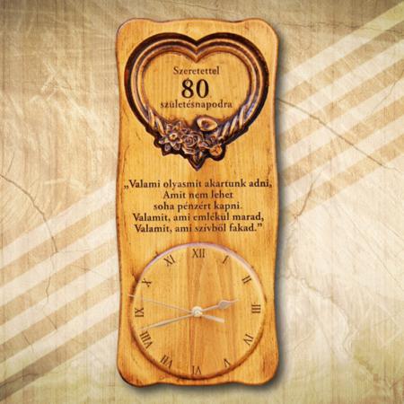 80. születésnapi különleges falióra