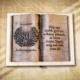 80. születésnapra ajándék fakönyv
