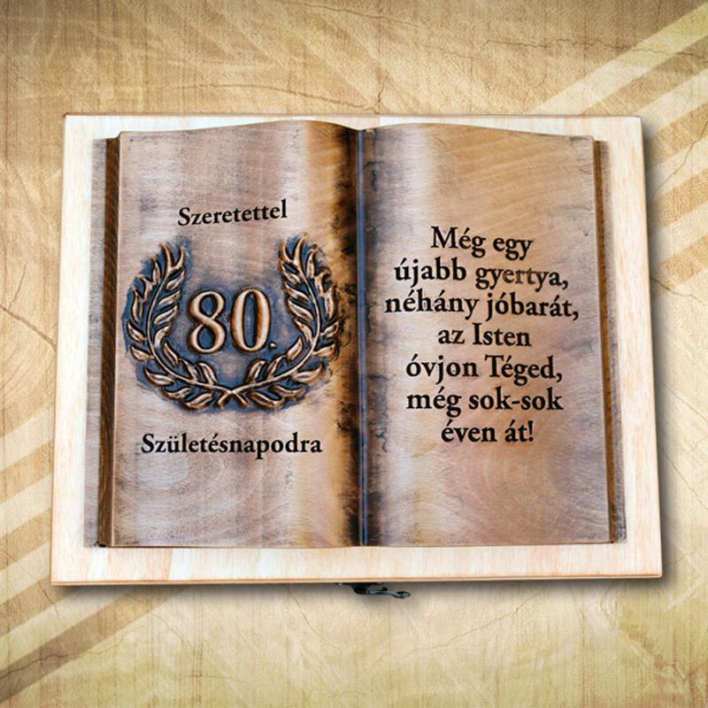 Ajándék fakönyv 80. születésnapra