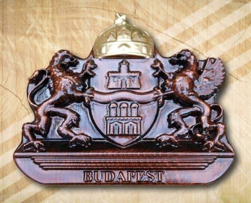 Budapest címere arany koronával